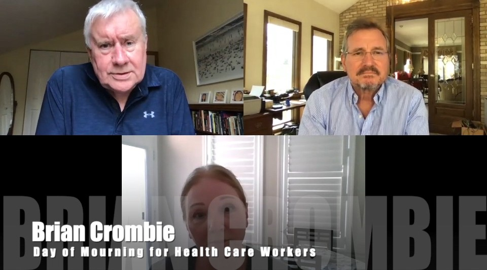 Brian Crombie Day or Mourning for Health Care Workers