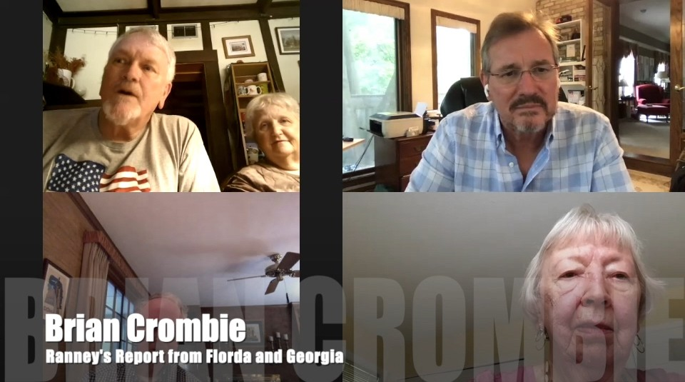 Brian Crombie Ranney's Report from Florida and Georgia