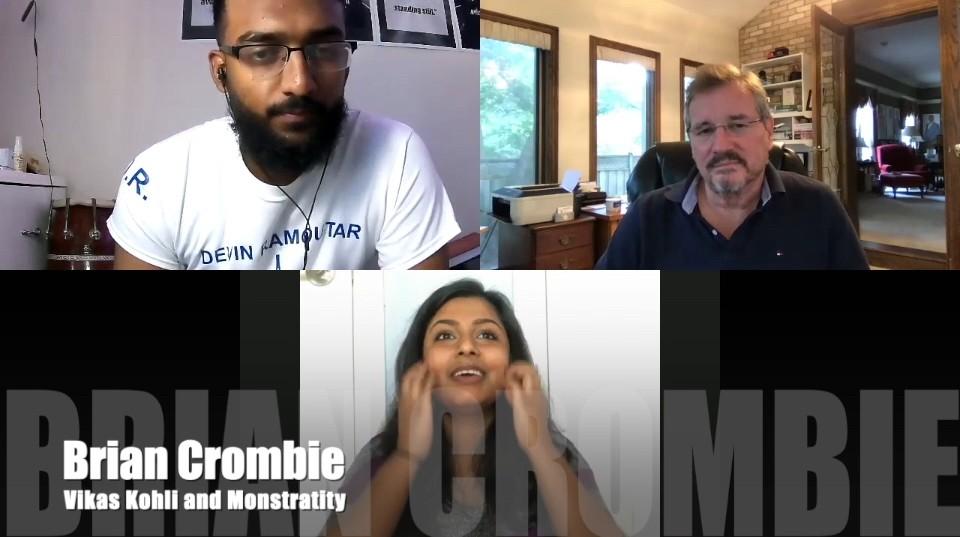 Brian Crombie Vikas Kohli and MonstrARTity